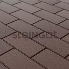 Брусчатка 200х100х40 Темно-коричневая (верхний прокрас, минифаска)