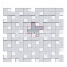 Брусчатка 200х100х40 Темно-красная (полный прокрас)