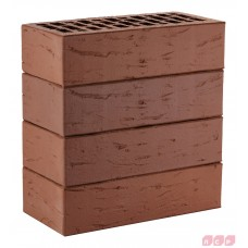 Облицовочный кирпич коричневый (гладкий, тростник, кора, рустик) ЛСР