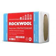 Звукопоглощающая плита акустик Ультратонкий ROCKWOOL 27 мм