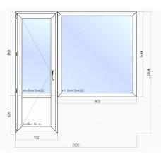 Балконный блок VEKA 2000*2000
