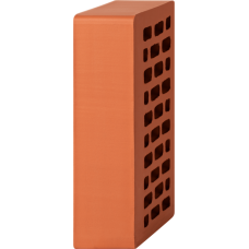 Кирпич лицевой красный 1НФ-Гладкий с утолщенной стенкой