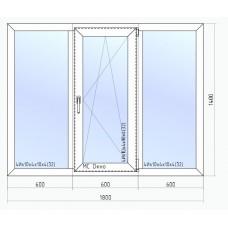 Окно VEKA Softline-70 1800*1400