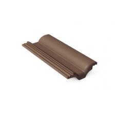BRAAS цементно-песчаная черепица Таунус половинчатая темно-коричневый